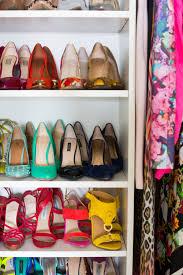 Shoe Organization Sydne Style Home Tour Shoe Organization Color Ideas Sandals Pumps