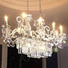 modern rectangle crystal chandelier light fixture used in dinning room length guaranteed with shade glass shades black chandelier shades