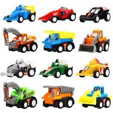 toy cars and trucks. Pull Back Vehicles,12 Pack Assorted Construction Vehicles And Raced Car Toy,Yeonhatoys Toy Cars Trucks T