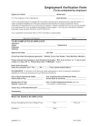 Employment Verification Templates Employment Verification Form For Child Care Templates At