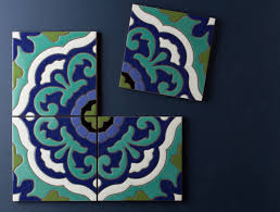 Wonderful Painted Tile Designs Fireclay Debuts Hand Mediterranean And Modern Intended Decorating