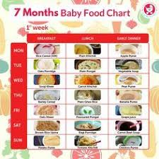 7 Months Food Chart For Babies 7 Months Baby Food Baby