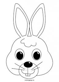 Easter Bunny Face Coloring Page Templates Bunny Coloring Pages