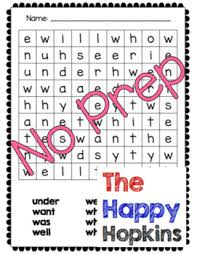 Dolch Primer Sight Word List No Prep Worksheet Packet By The Happy