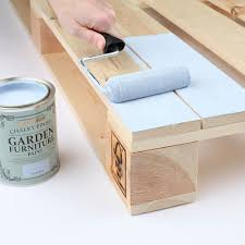 make pallet furniture. Pallet-garden-furniture-painting Make Pallet Furniture