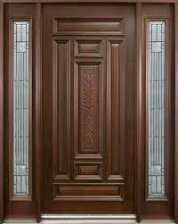 wooden front doors paint
