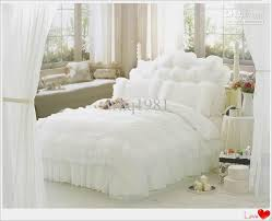 luxury snow white lace bedspread