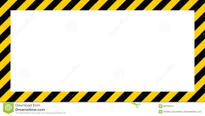 Black And Yellow Stripes Border Warning Striped Rectangular Background Border Yellow And Black Color