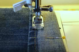 How To Turn Up Jeans On A Sewing Machine