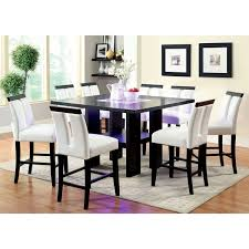 dining room chairs counter height. furniture of america lumina light-up counter height dining table room chairs