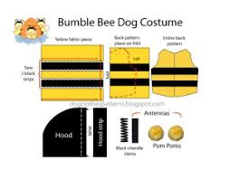 Dog Costume Patterns Interesting Bumble Bee Dog Costume Patterns FREE PDF DOWNLOAD