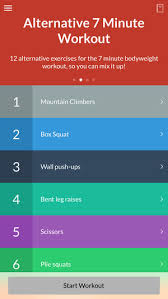 7 minute workout on the app