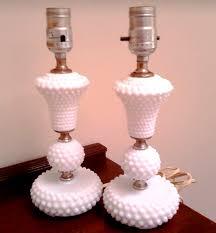 hobnail milk glass lamps part 1
