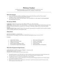 Resume Web Developer Sample Resume