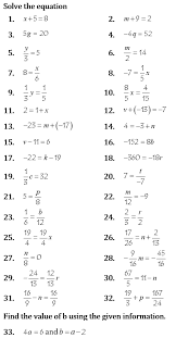 2 02 solve one step equations marla s math pages
