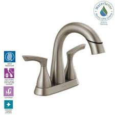 centerset 2 handle pull down spout bathroom faucet in spotshield