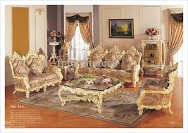 Hot Selling Rococo Style Living Room Sofa Set Palace Royal