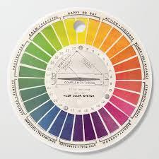 Vintage Color Wheel Art Teaching Tool Rainbow Mood Chart Cutting Board By Kristiefish