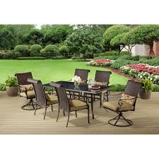 Small Picture Better Homes and Gardens Riverwood 7 Piece Patio Dining Set Seats