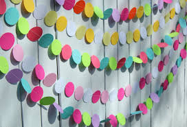 Decorative Items With Paper Birthday Party Decorations Paper Garland Party Decoration