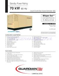 Generac Power Systems Portable Generator Whisper Test Ul