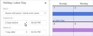 how to make a child custody calendar