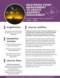 Create A Programme For An Event Mastering Event Management To Create Audience Engagement 05 October