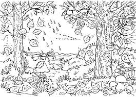 Small Picture Autumn Season is When Leaves Fall Down Coloring Pages Batch Coloring