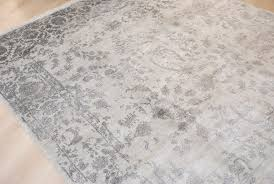 handmade bamboo silk rug saphire 202x303cm
