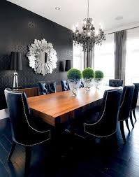 this modern black on black dining room