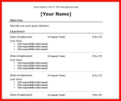 Most Common Resume Format Apa Example