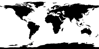 diagram collection world map black on white at  roundtripticketme