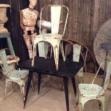 xavier pauchard french industrial dining room furniture. industrial vintage tolix chairs by xavier pauchard shabby chic laboutiquevintage french dining room furniture