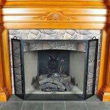 flat twisted rope folding fireplace screen roman bronze powdercoat