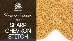 Sharp Chevron Crochet Pattern Unique Design Ideas