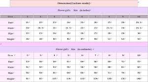 63 Curious Girls Dress Sizing Chart