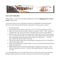 Writing A Cover Letter Case Study Infosys R Sum Technology