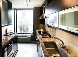 apartment kitchen design. Modren Apartment Small Galley Kitchen Remodel Before And After Modern  Design For Apartment With Granite And Apartment Kitchen Design