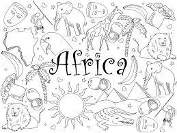 Kleurplaten Afrikaanse Maskers