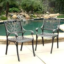 cast aluminum patio sets patio furniture cast aluminum outdoor dining chairs set of 2 chair cast