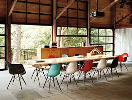 dining meeting 04 nelson x leg table eames molded plastic chair
