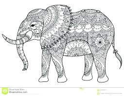 Elephant Mandala Coloring Pages Easy Adult Coloring Elephant Adult
