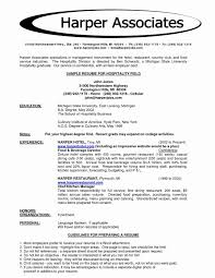 Sample Resume Format For Hotel Industry Awesome Hospitality Resume