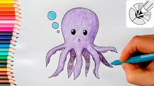 Small Picture Cute Drawings How to Draw a Cute Octopus Draw and Color YouTube