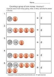 Coin Worksheets For Kindergarten Worksheets for all | Download and ...