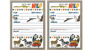 Wild Kratts Birthday Printables Birthday Parties