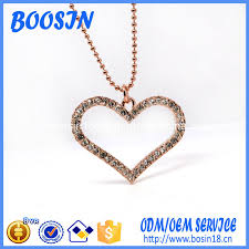 china whole rose gold plated crystal heart pendant necklace china whole rose gold necklace crystal heart pendant necklace