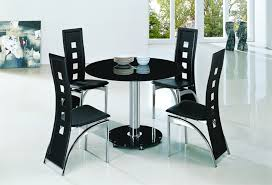 black round glass dining table with alison chairs awesome dining table black glass