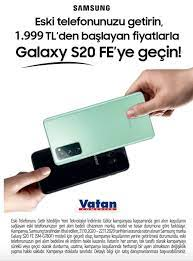 Vatan Bilgisayar Eski telefonunuzu getirin 1.999 TL 'den başlayan  Fiyatlarla Galaxy S20 FE 'ye geçin! - Türkiye Haberi - Son Dakika Haberleri  - turkiyehaberi.com