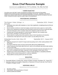 Resume For Cooks Magnificent Career Objective Examples For Chef Resume Also Effective Resume